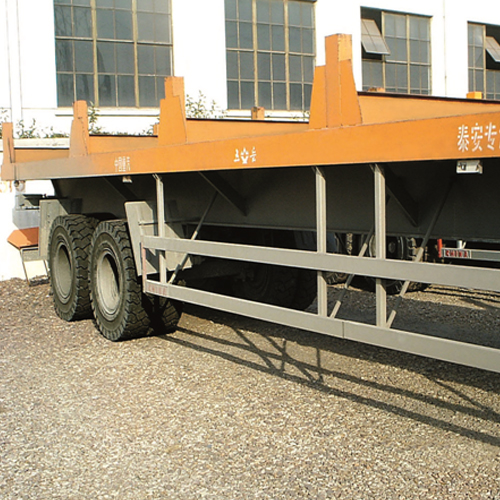 Used on the trailer of the port